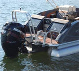 Heavy Duty 4 Step Stern Ladder - FenceForPontoons.com