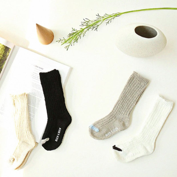 NATURAL SLUB SOCKS - SET OF 2