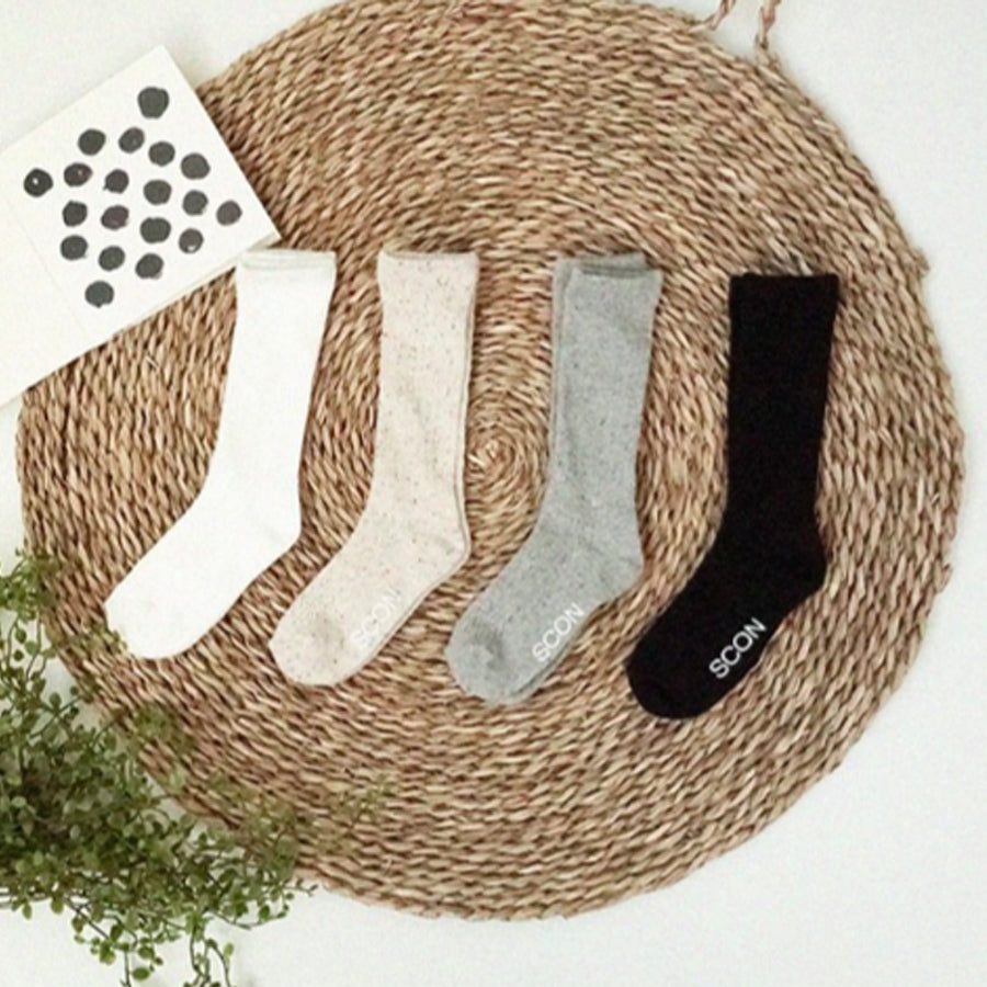 EYELET SOCKS, SET OF 2