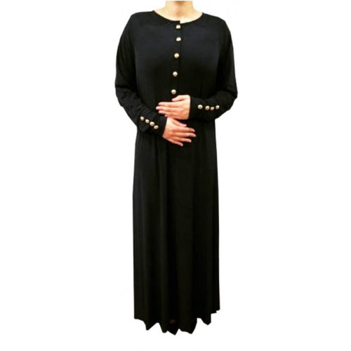 ESSENTIAL ABAYA BLACK - Husna Collections