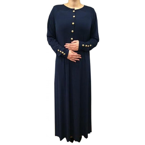 ESSENTIAL ABAYA NAVY - Husna Collections