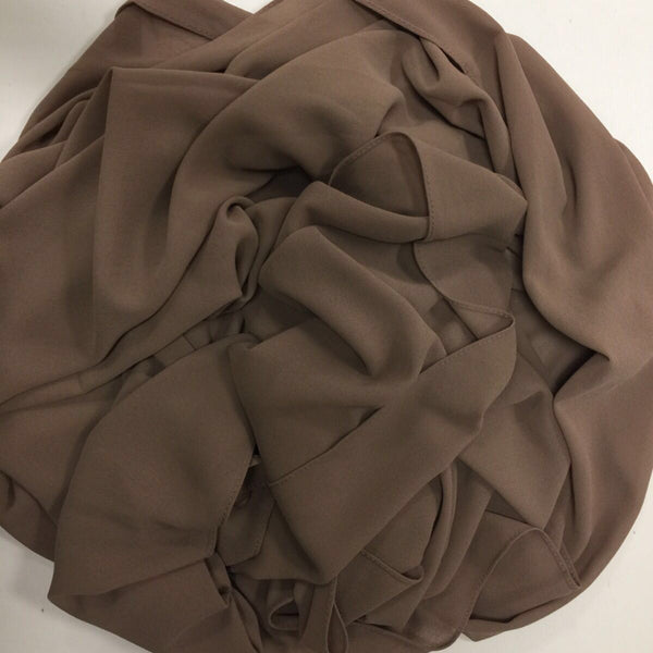 GEORGETTE MOCHA HIJAB - Husna Collections