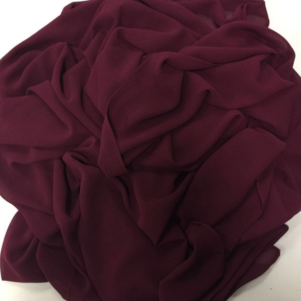 GEORGETTE MAROON HIJAB - Husna Collections