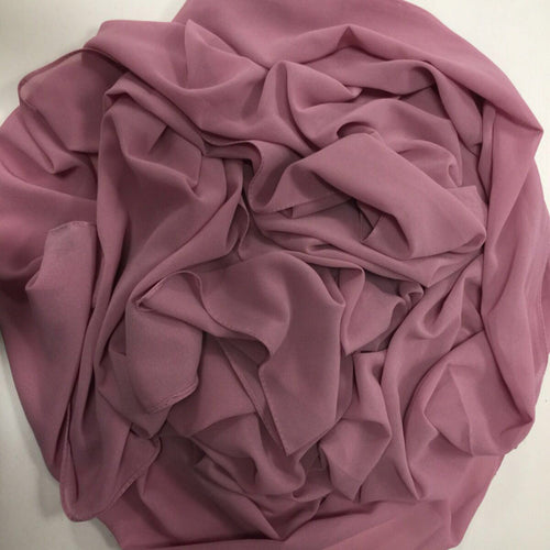 GEORGETTE DUSTY PINK HIJAB - Husna Collections