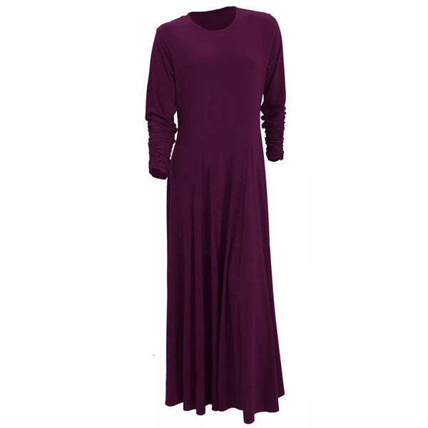 UMBRELLA PLUM ABAYA - Husna Collections