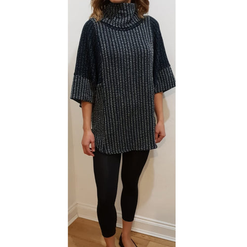 PONCHO POLO NECK JUMPER