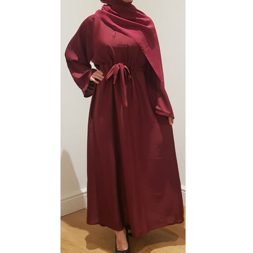 BELLA ABAYA DEEP RED