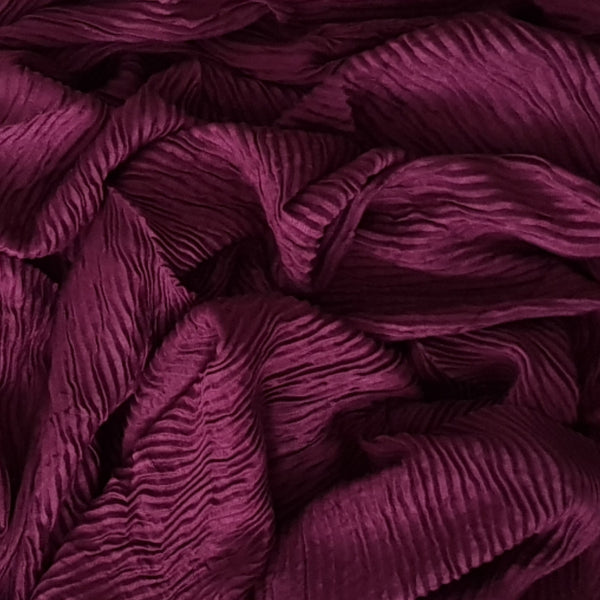 CRINKLED MAROON - Husna Collections