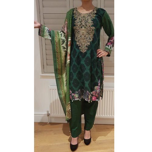 KADER GREEN PRINT - Husna Collections