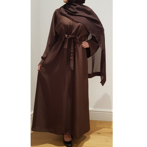 BELLA ABAYA DARK BROWN