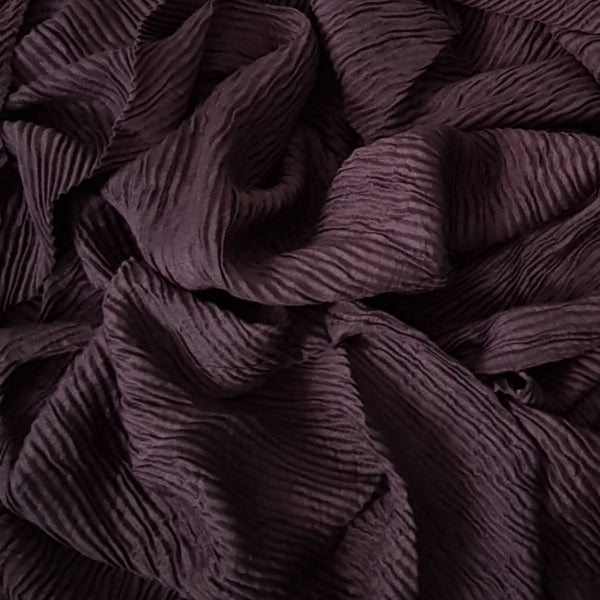 CRINKLED BROWN - Husna Collections