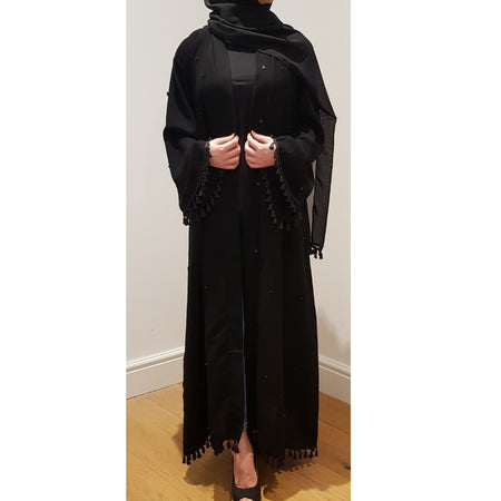 BELLA ABAYA FLORAL MIX BLACK