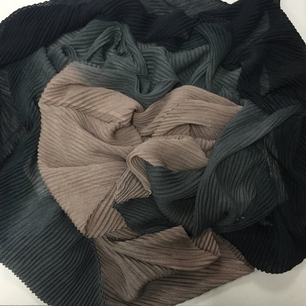 CRINKLE MODAL OMBRE BLACK - Husna Collections