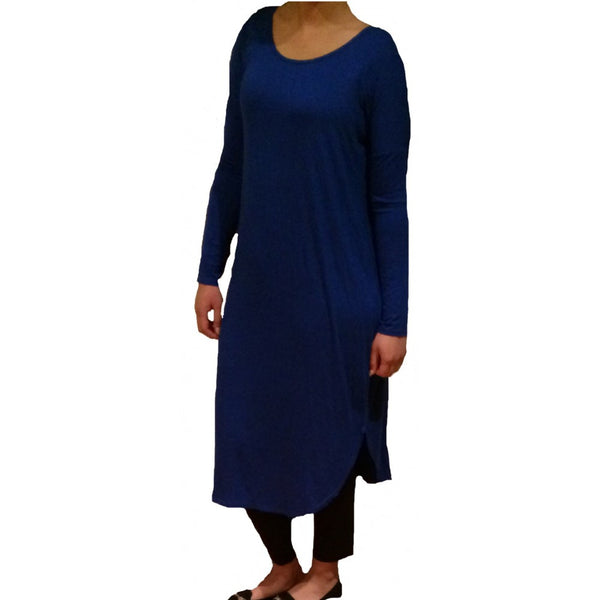 FLOATER DRESS ROYAL BLUE - Husna Collections