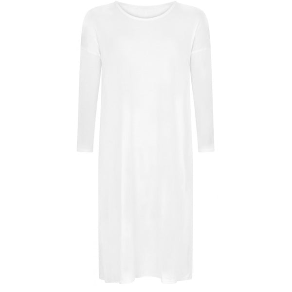 WHITE MIDI DRESS - Husna Collections