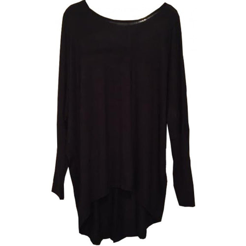 BATWING TUNIC BLACK - Husna Collections