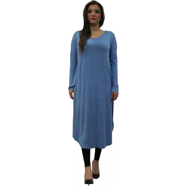 FLOATER DRESS OCEAN BLUE - Husna Collections