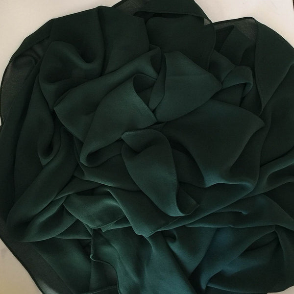 GEORGETTE FOREST GREEN HIJAB - Husna Collections