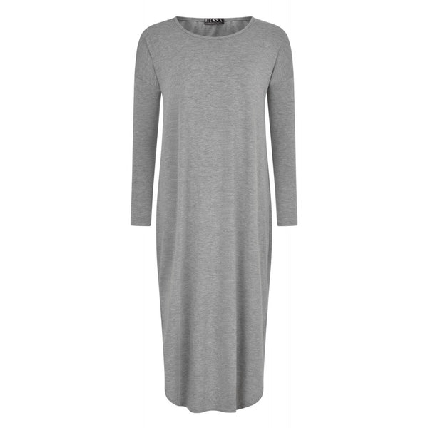 FLOATER DRESS LIGHT GREY - Husna Collections