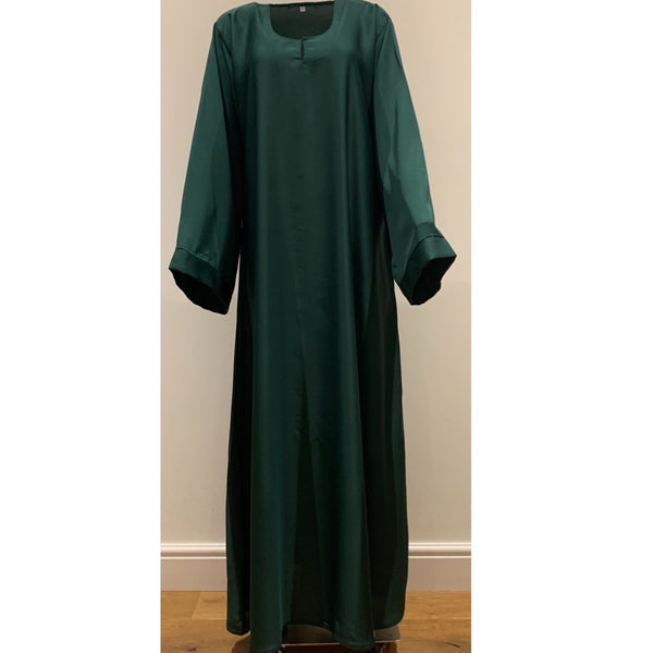 CASUAL PLAIN BELL SLEEVES ABAYA EMERALD GREEN