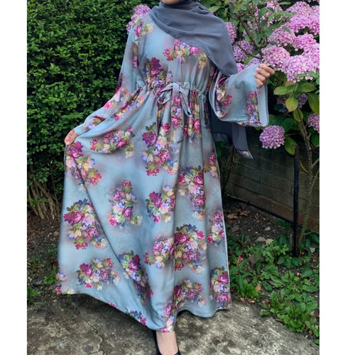 BELLA ABAYA FLORAL MIX GREY