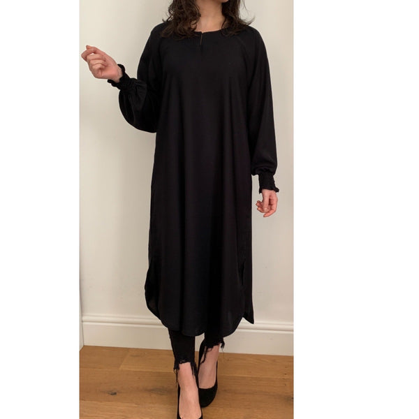 AROUS MIDI DRESS BLACK