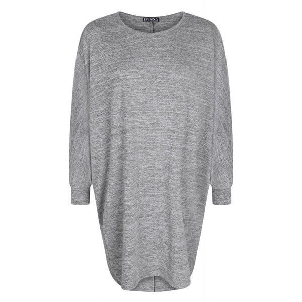 HIGH LOW BATWING TOPS LIGHT GREY - Husna Collections