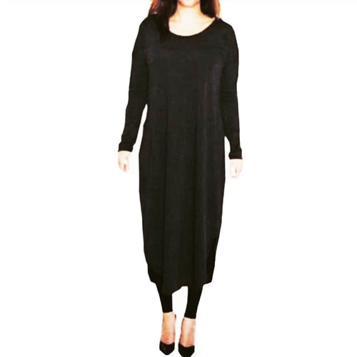 FLOATER DRESS BLACK - Husna Collections