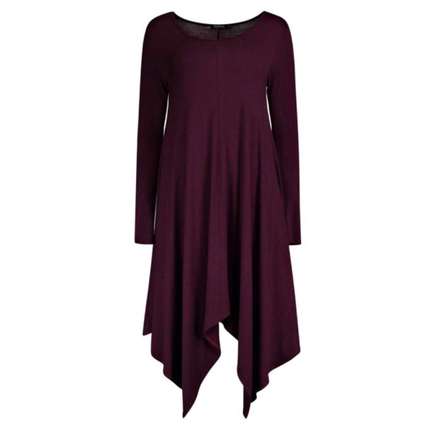 SWING DRESS PLUM - Husna Collections