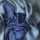 LUXURY REVERSIBLE BLUE/GREY - Husna Collections