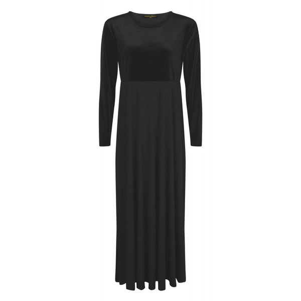 VELVET BLACK ABAYAS DRESS - Husna Collections