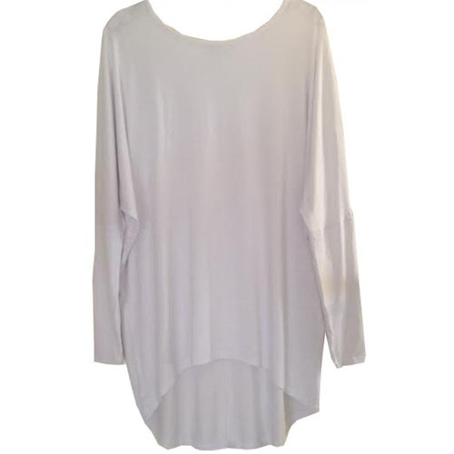 BATWING TUNIC WHITE - Husna Collections
