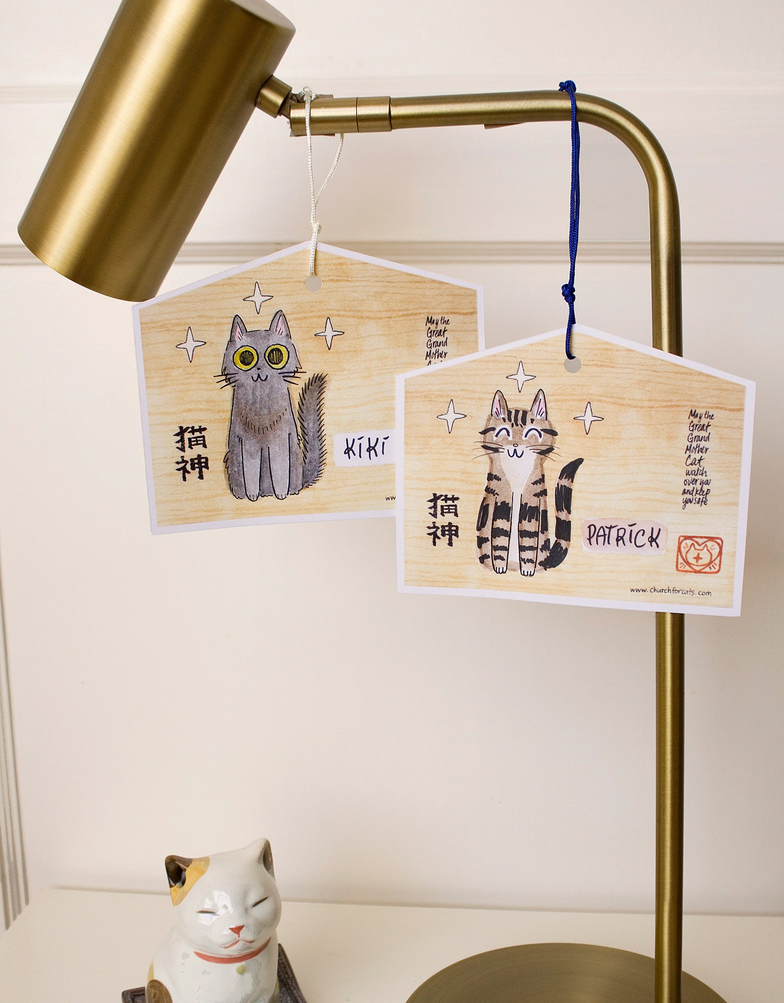 Cat Blessing Card Tags