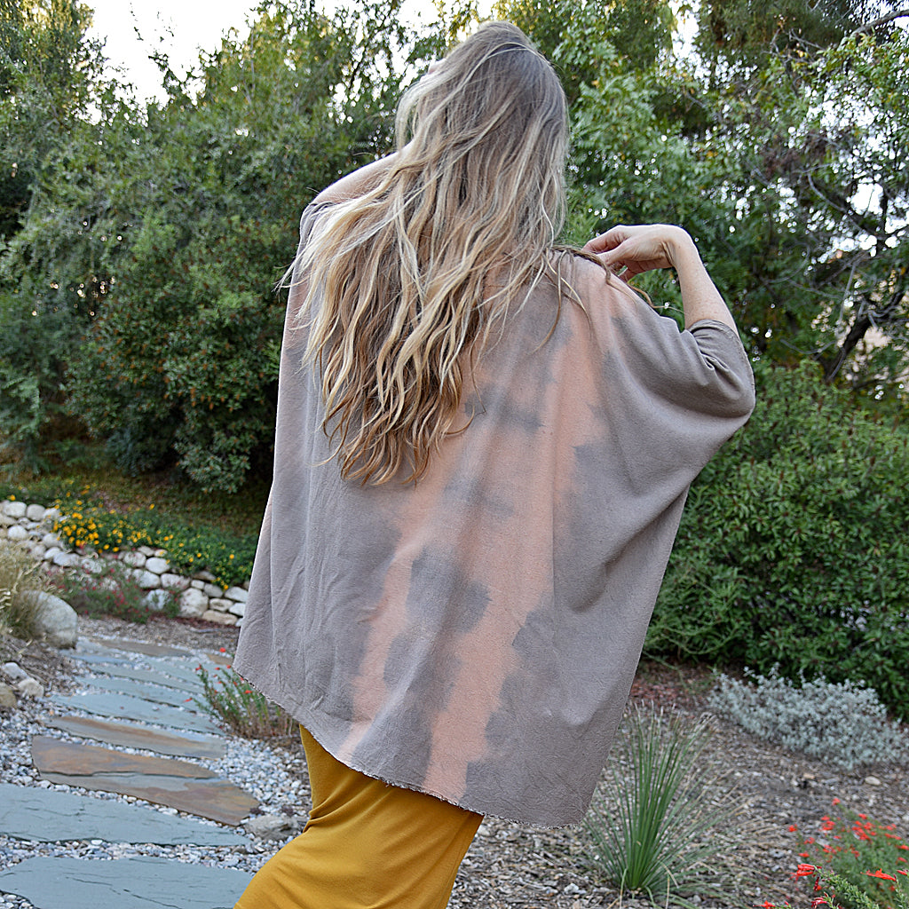 California Holly-dyed Peace Silk Top