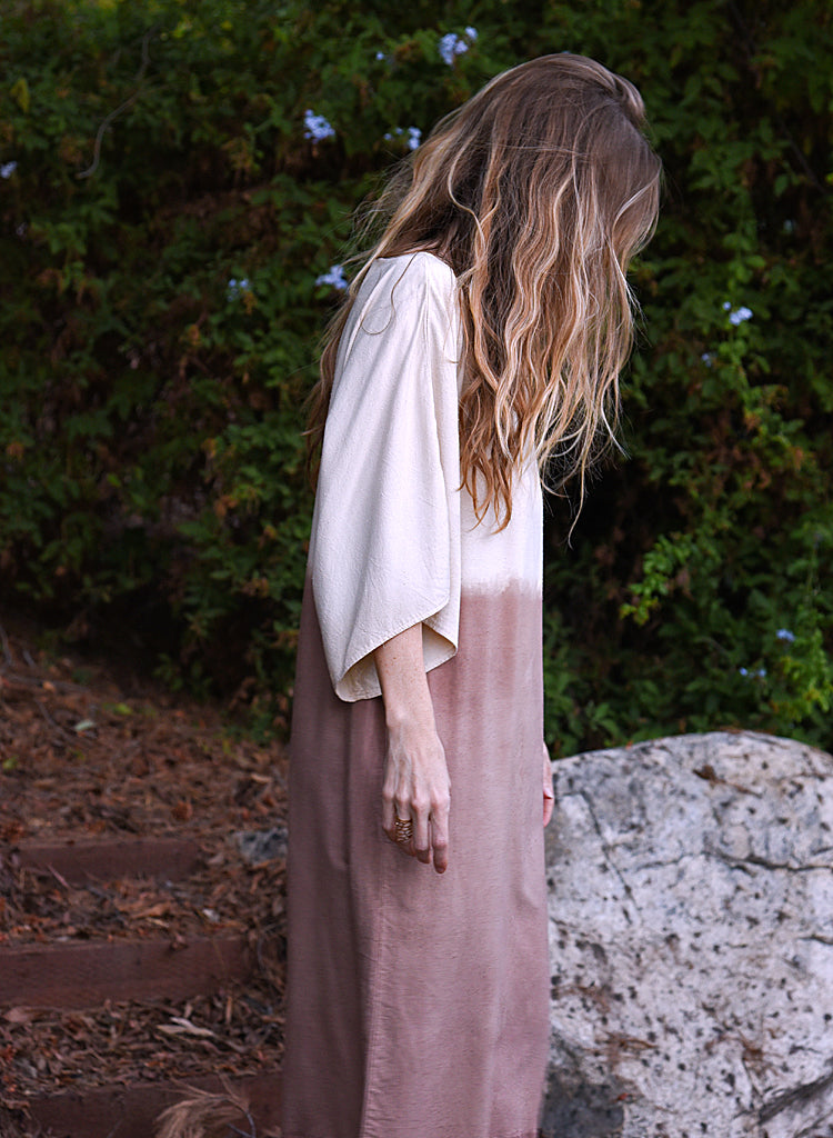 Sequioa-dyed Peace Silk Dress