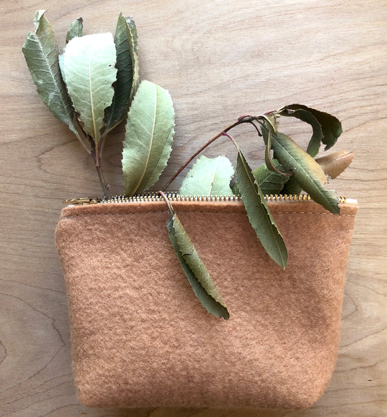 California Holly-Dyed Zipper Pouch