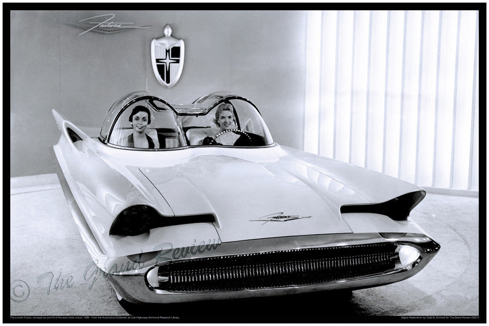 Vintage Car Print The Original Batmobile The Lincoln Futura