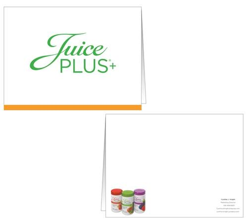 Juice Plus+ Card w/Blank Envelopes - Juice Plus+ Promotions