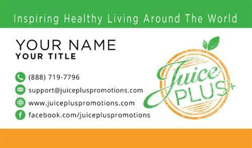 Juice Plus+ Business Card - Orange Stamp - Juice Plus+ Promotions
