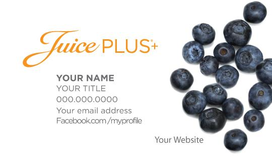 Juice Plus Business Cards - Blueberry - Juice Plus+ Promotions