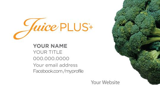 Juice plus business cards broccoli juice plus promotions colourmoves