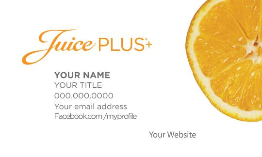 Juice Plus Business Card-Orange - Juice Plus+ Promotions