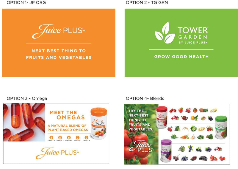 Juice Plus Business Card - Orange Slice Blend