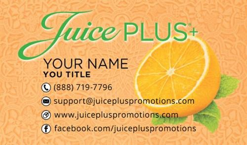 Juice Plus+ Business Card - Orange Pattern - Juice Plus+ Promotions