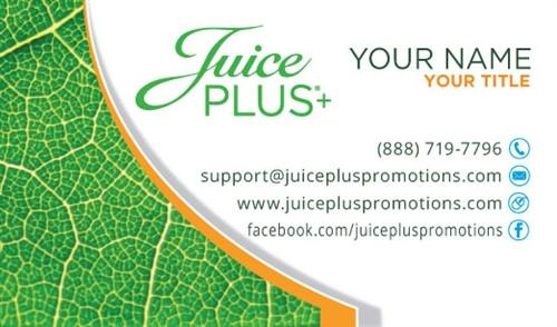 Juice Plus+ Business Card - Leaf - Juice Plus+ Promotions