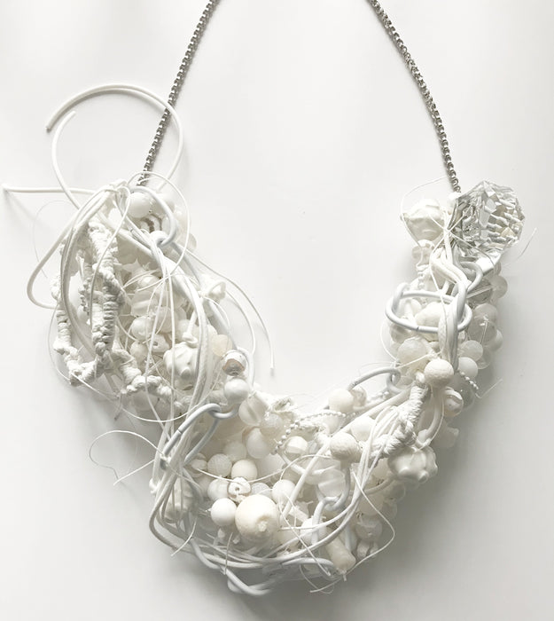All white gemstone necklace