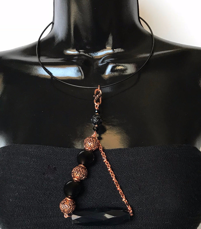 Copper Black Onyx Necklace