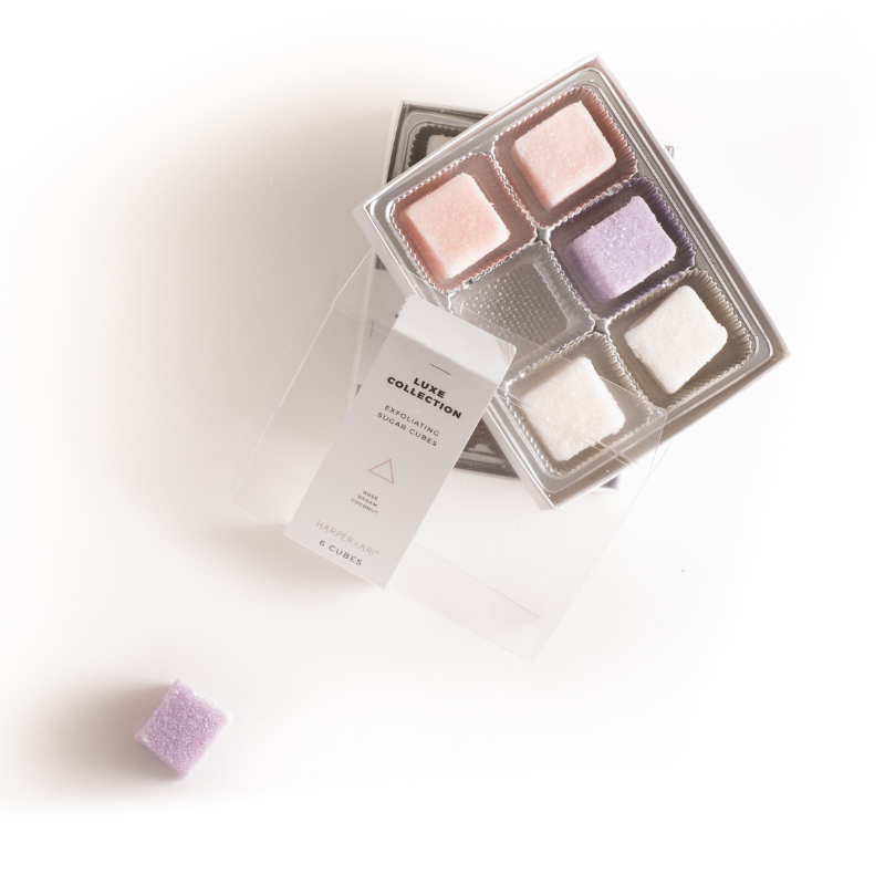 Exfoliating Sugar Cubes - Luxe Collection Gift Box