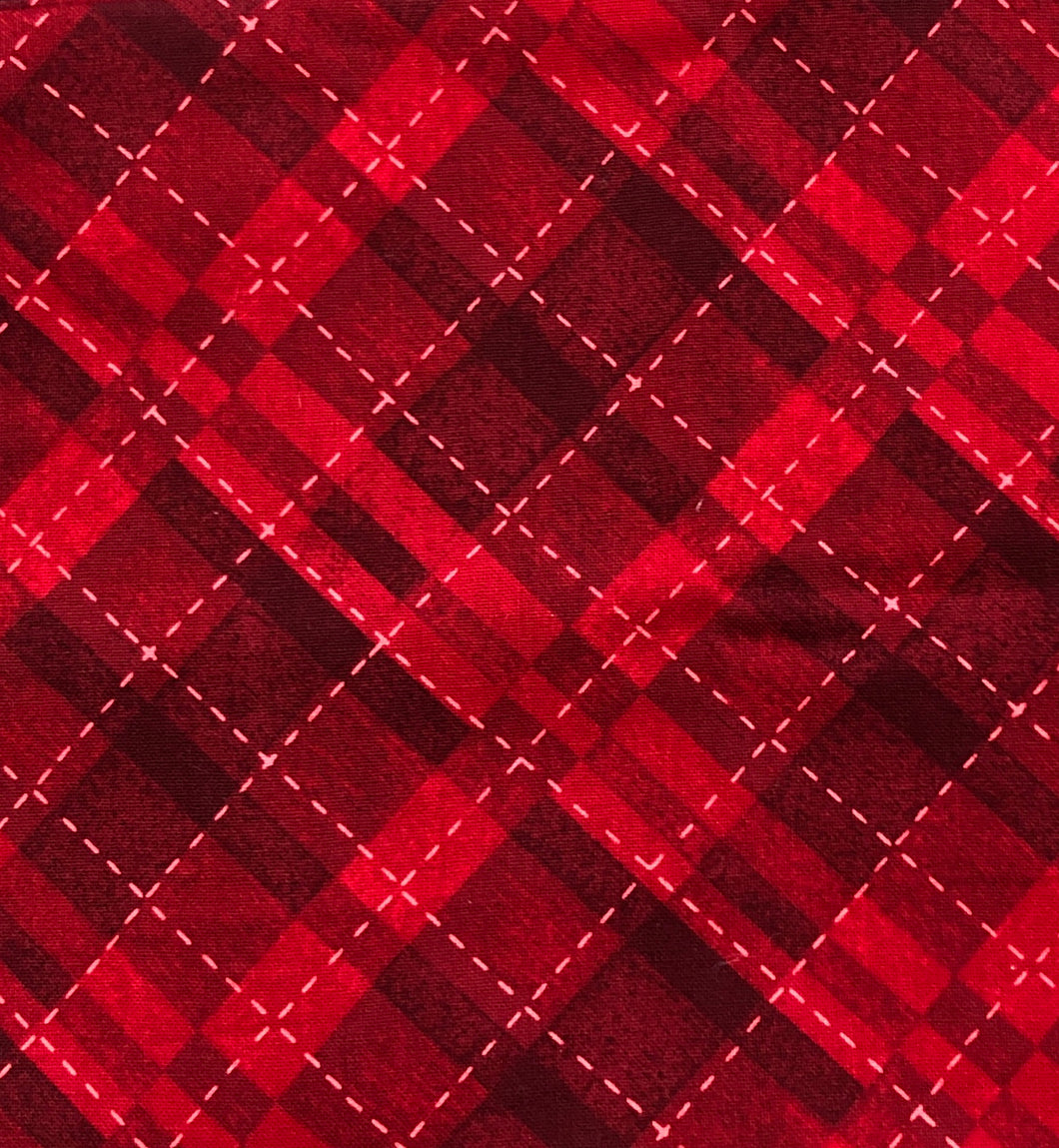 Face Mask - Christmas - Red Plaid