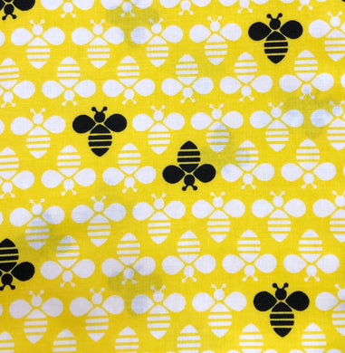 Face Mask - Bees - Yellow BG